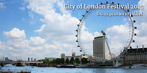 Billet de train pour le City of London Festival 2015